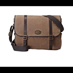 Fossil Canvas Messenger Bag